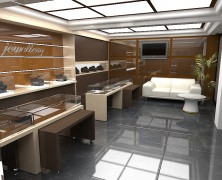 Design interior – magazin bijuterii din aur, Chisinau