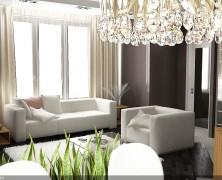 Design interior – casa Centru, camera living, Chisinau